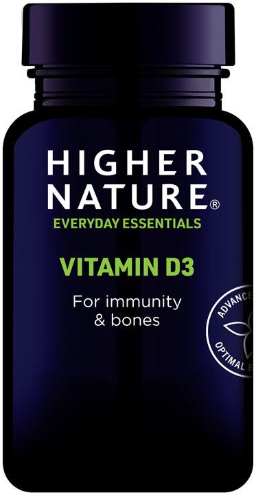 Higher Nature Vit D3 500iu Capsules [120s] - SoulBia