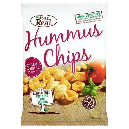 Eat Real Tomato & Basil Hummus Chips 135g - SoulBia