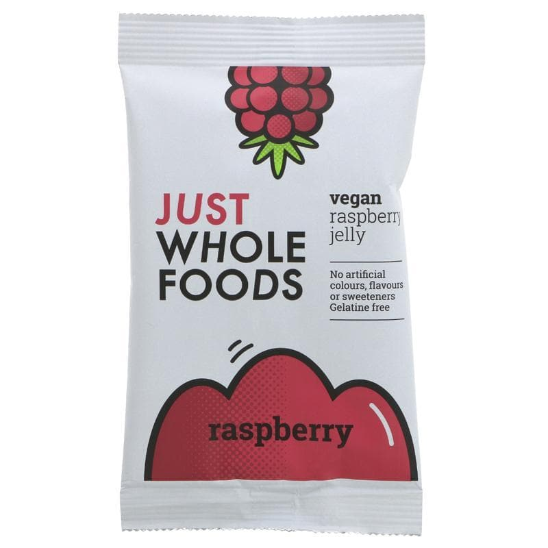 Just Wholefoods Vegan Jelly Raspberry - 85g - SoulBia