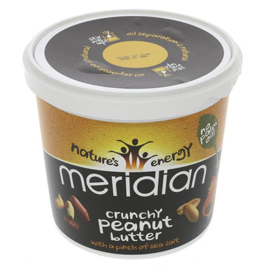 Meridian Almond Butter Crunchy with a pinch of salt - 1 kg - SoulBia