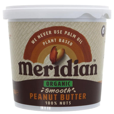 Meridian Organic Peanut Butter Smooth - 1 kg - SoulBia