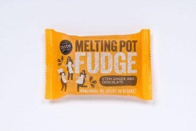 Melting Pot Stem Ginger & Chocolate Fudge 90g (Vegan) - SoulBia