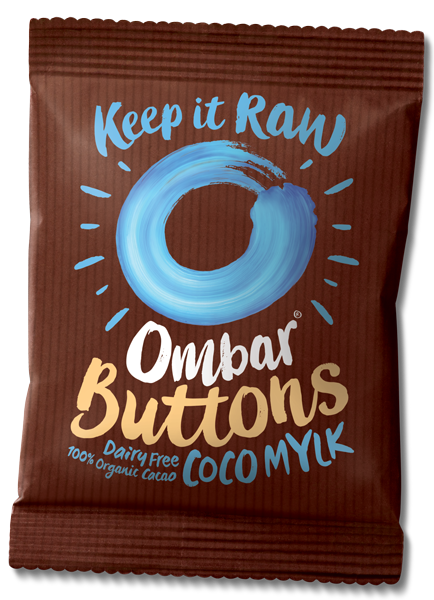 Ombar Chocolate  Buttons Coco Mylk - 25g - SoulBia