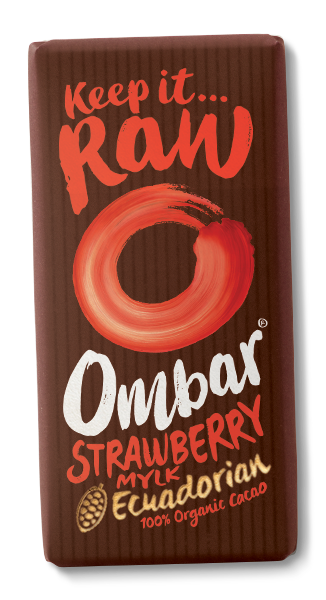 Ombar Strawberry Mylk Ecuadorian Cacao Chocolate - 35g - SoulBia