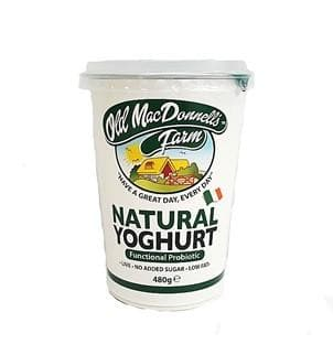 Old Mac Donnells Farm Natural Yoghurt 480g (Probiotic, Gluten-Free) - SoulBia