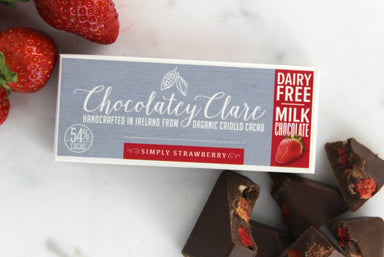 Chocolatey Clare Simply Strawberry (Vegan, Gluten-Free) - SoulBia