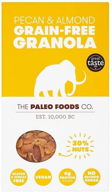 PALEO FOOD CO - PECAN & ALMOND GRAIN-FREE GRANOLA - 285G - SoulBia