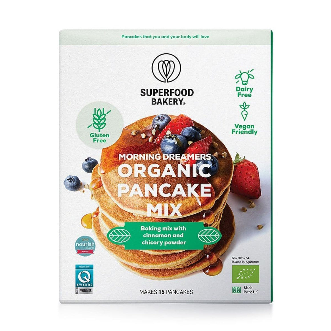 Superfood Bakery Morning Dreamers Organic Pancake Mix - 200g