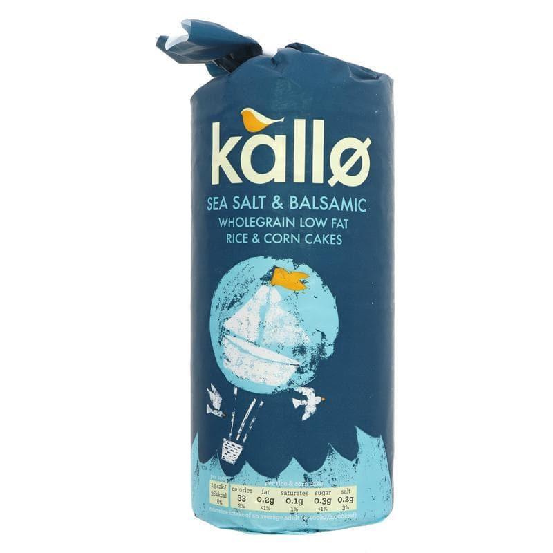 Kallo Sea Salt & Balsamic Rice Cakes - 127g - SoulBia