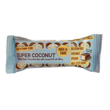 Rhythm 108 Swiss Chocolate Bar - Super Coconut 33g - SoulBia