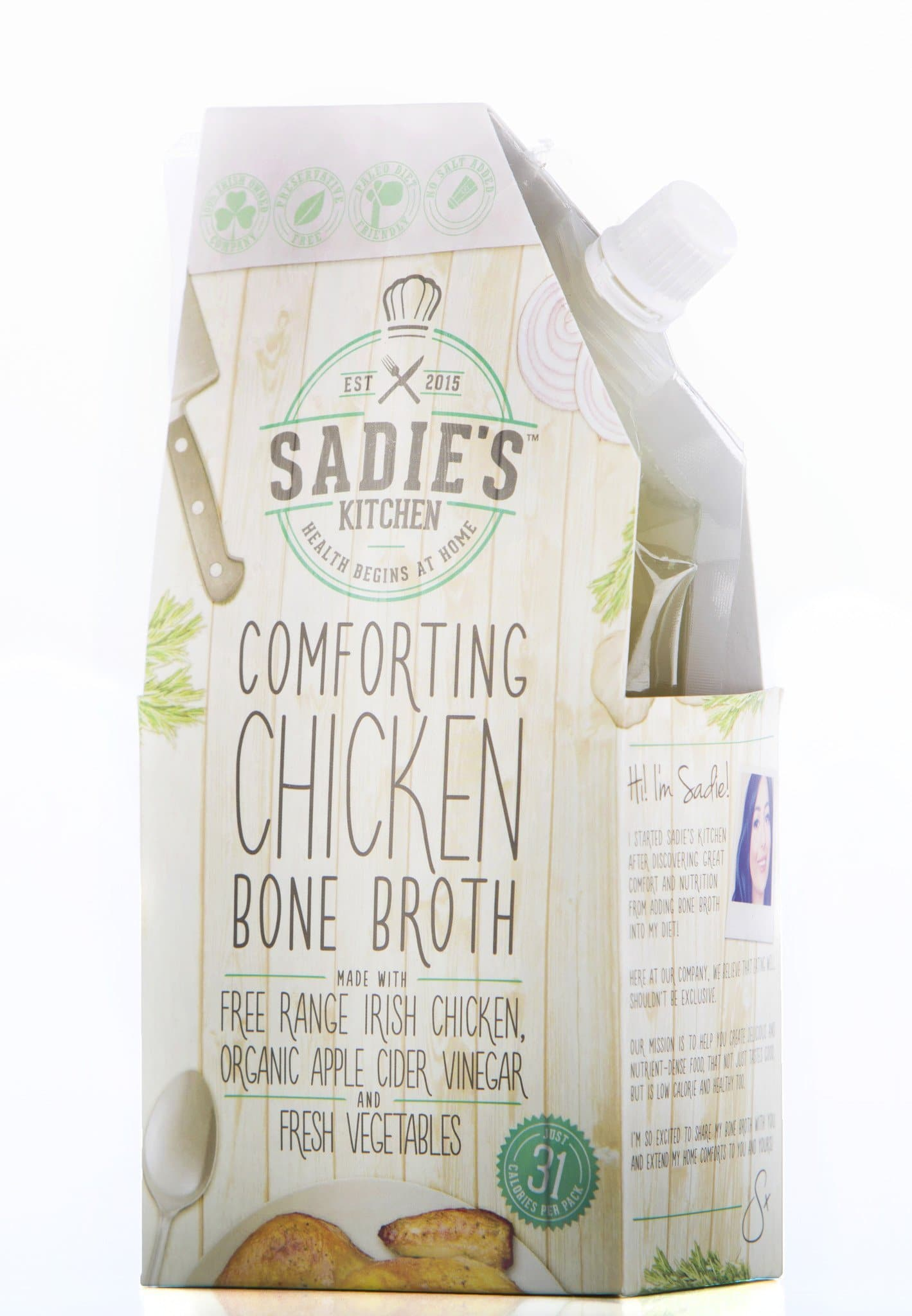 Sadie's Kitchen Comforting Chicken Bone Broth - 350ml (Pack of 6) - SoulBia