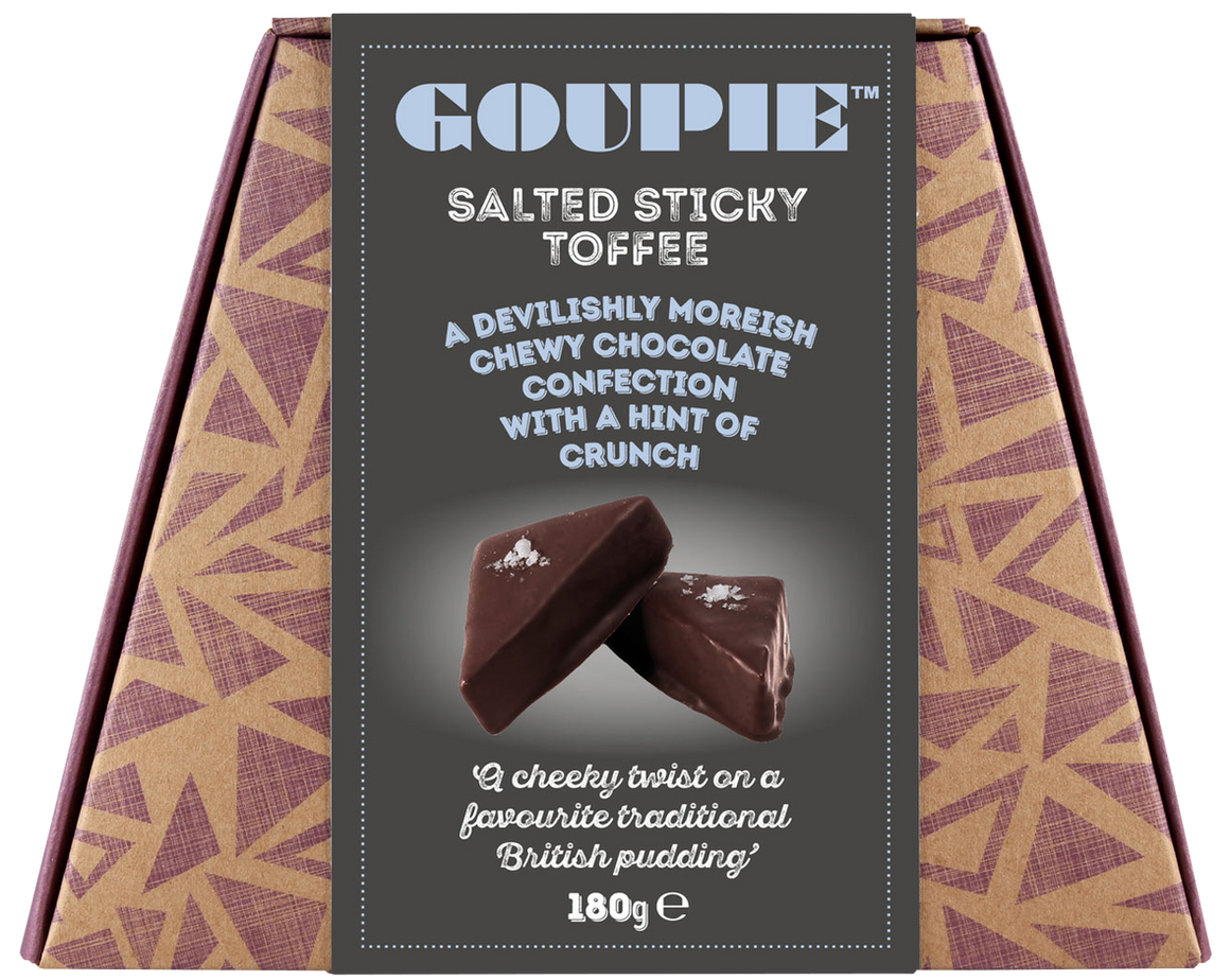 Goupie Salted Sticky Toffee Chocolate- 180G - SoulBia