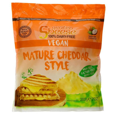 Bute Island Foods Grated Mature Cheddar Style - 200g - SoulBia