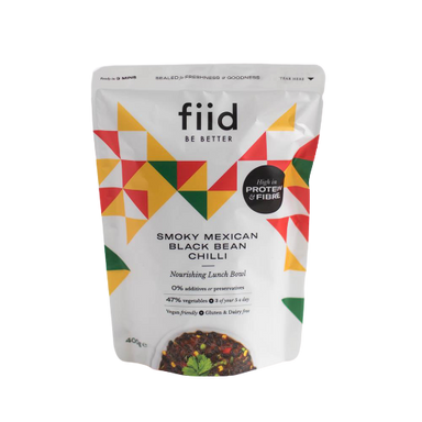 Fiid Smoky Mexican Black Bean Chilli - 400g - SoulBia