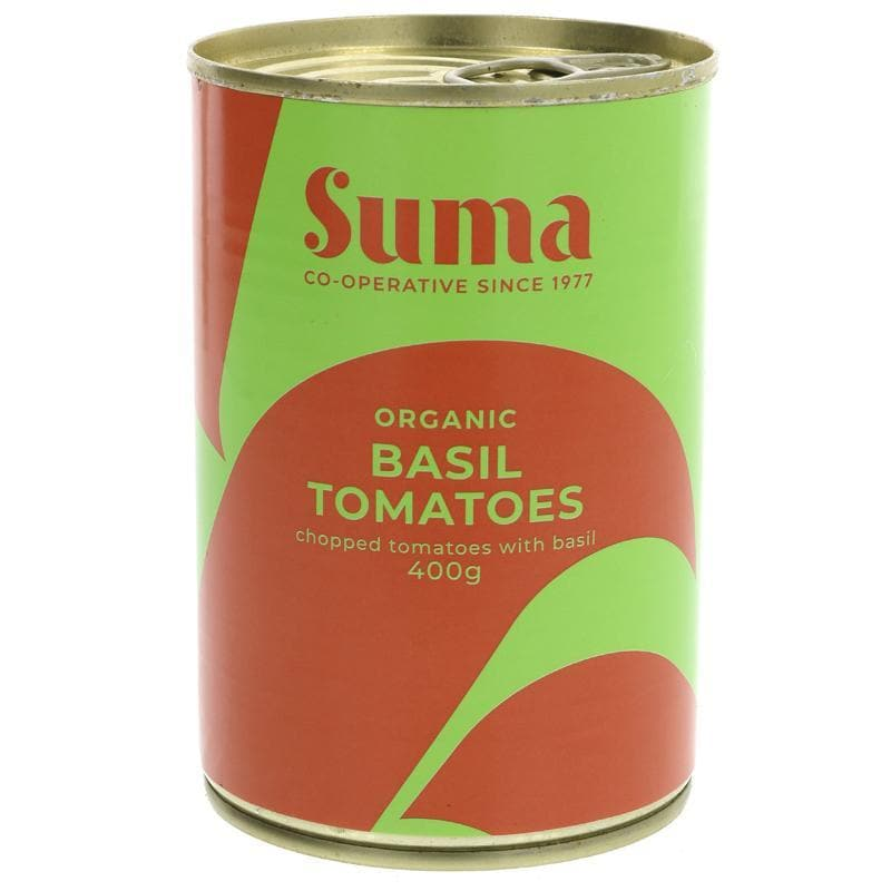 Suma Chopped Tomatoes with Basil - 400g - SoulBia