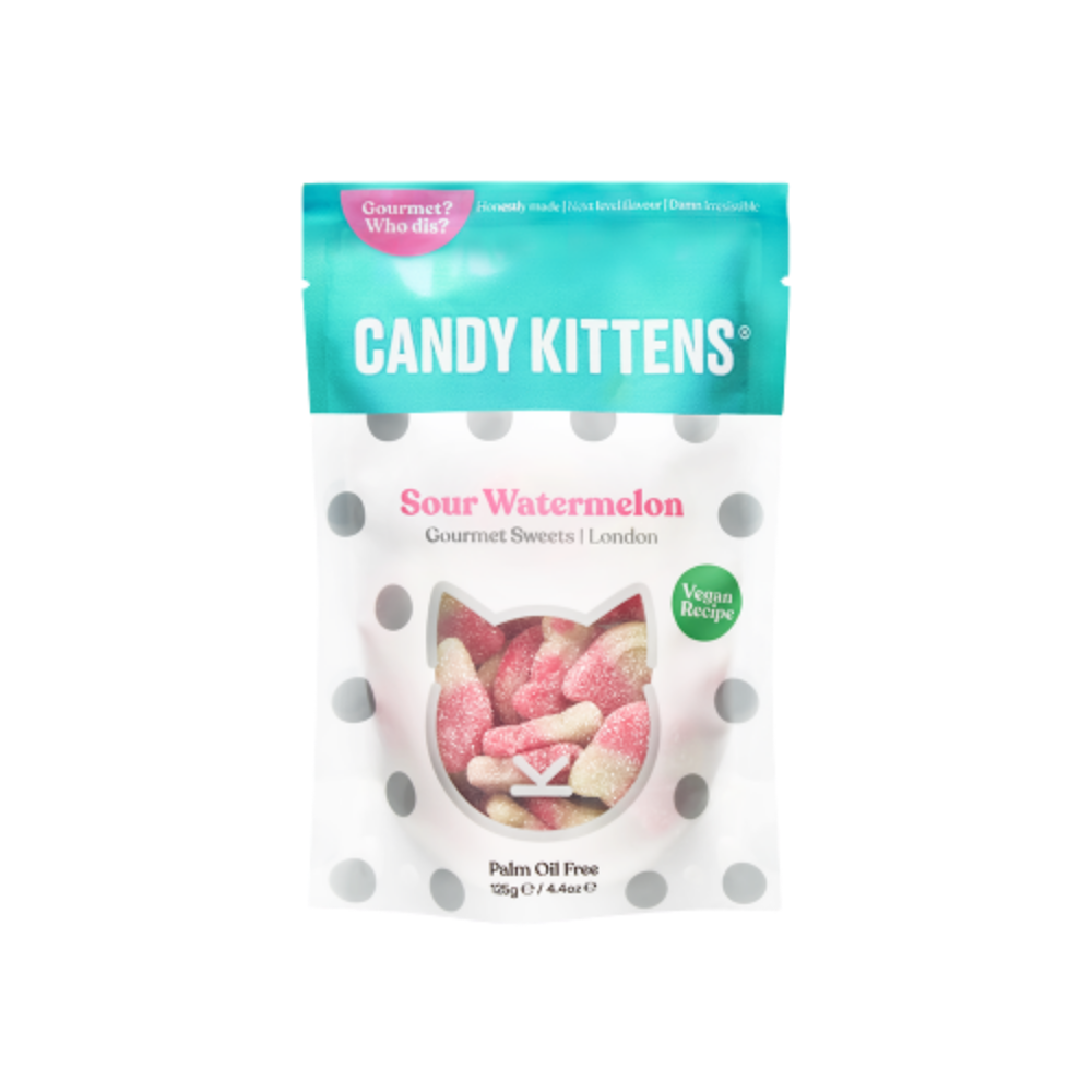 Candy Kittens Sour Watermelon Gourmet Sweets - 125g