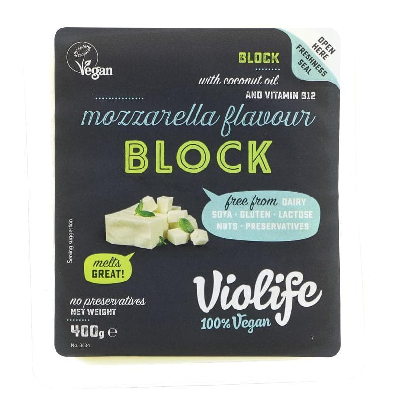 Violife Cheese Block Mozzarella -400g - SoulBia