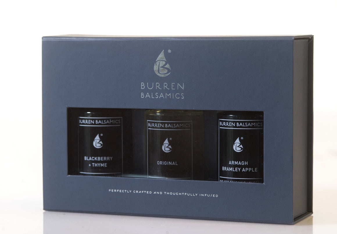Burren Balsamics- Armagh Bramley Apple, Beetroot & Cocoa Nib & Original Trios - 50ml - SoulBia