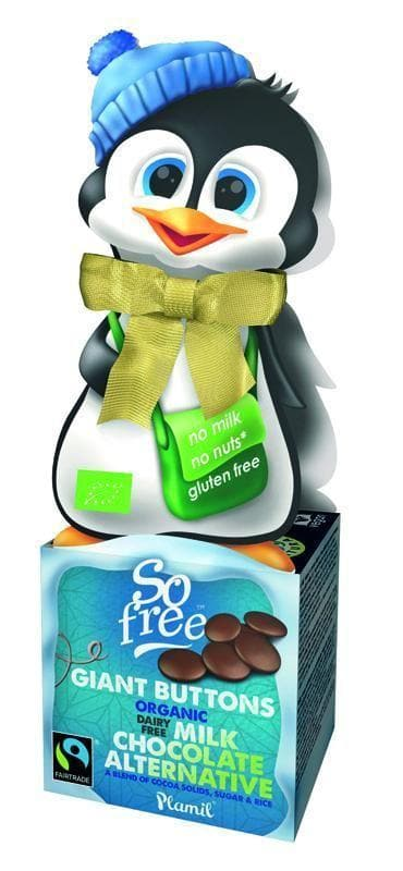 So Free Penguin Box and Giant Chocolate Buttons - 65g