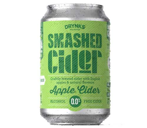 Drynks Unlimited - Smashed Alcohol Free Apple Cider - 300ml - SoulBia