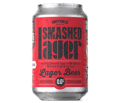 Drynks Unlimited - SMASHED ALCOHOL FREE LAGER  - 300ml - SoulBia