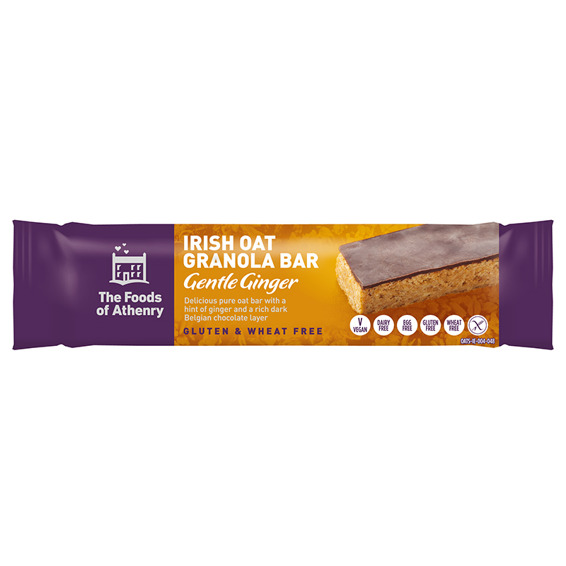 The Foods of Athenry Irish Oat Granola Bar Gentle Ginger - 55g - SoulBia