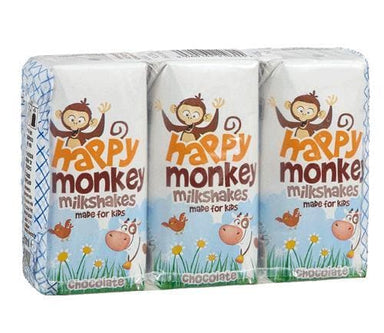 Happy Monkey - Chocolate Milkshakes (3 x 200ml) - SoulBia