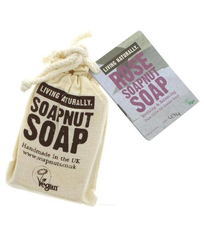 Living Naturally Rose Soapnut Soap - SoulBia