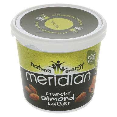 Meridian Almond Butter Crunchy - 1 kg - SoulBia