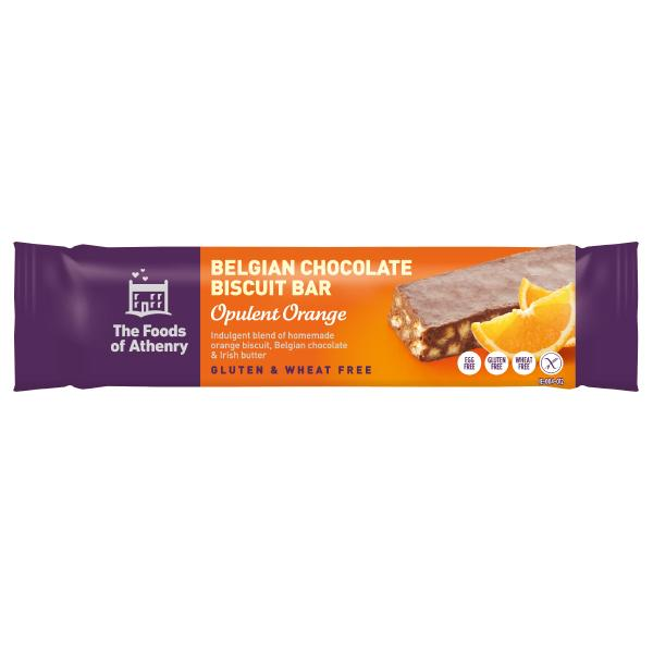 The Foods of Athenry Opulent Orange Belgian Chocolate Biscuit Bar- 55g - SoulBia