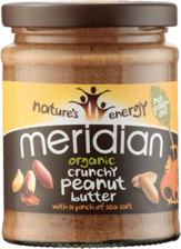 Meridian Crunchy Peanut Butter with a pinch of sea salt - 280g - SoulBia