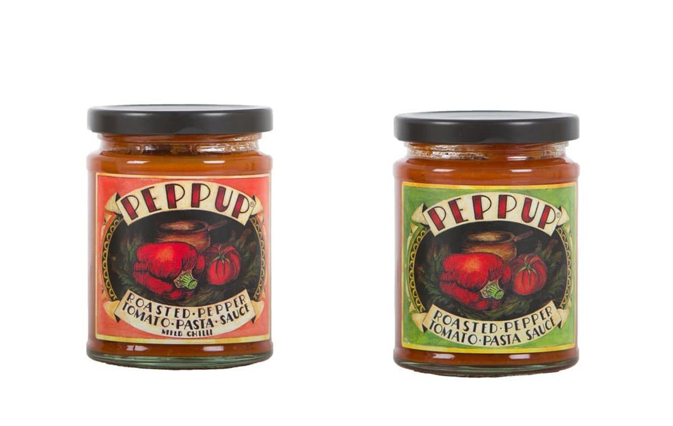 Pack of Two Peppup Roasted pepper Tomato Pasta Sauce- 275g each - SoulBia