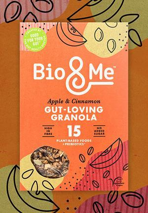 Bio & Me - Apple & Cinnamon Gut Loving Prebiotic Granola - 360g - SoulBia