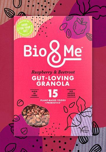 Bio & Me Raspberry & Beetroot Gut Loving Prebiotic Granola- 360g - SoulBia