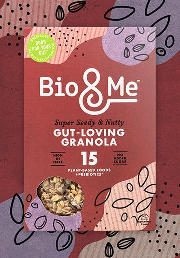 Bio & Me Super Seedy & Nutty Gut Loving Prebiotic Granola- 360g - SoulBia