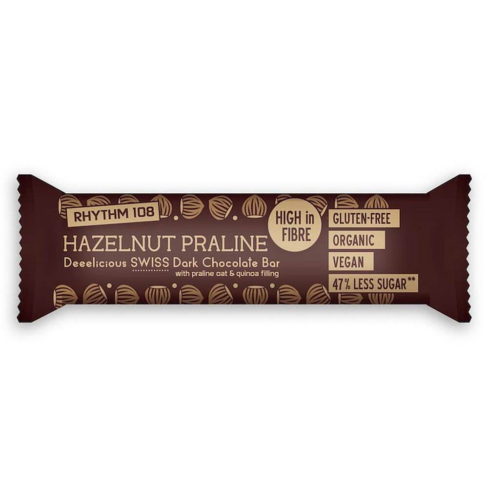 Rhythm 108 Hazelnut Praline Chocolate Bar - 33g - SoulBia