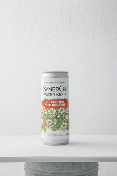 SynerChi Water Kefir Strawberry with Rhubarb - 250ml - SoulBia