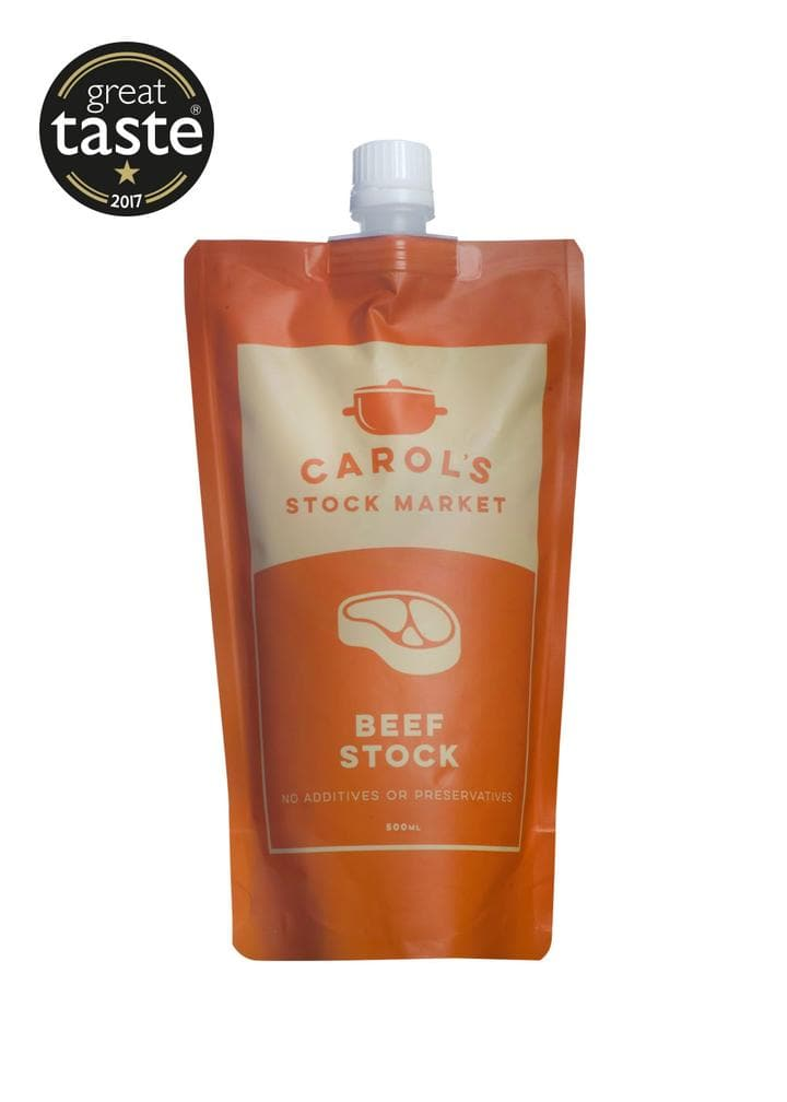 Carol's Stock Market Natural Beef Stock 500ml - SoulBia