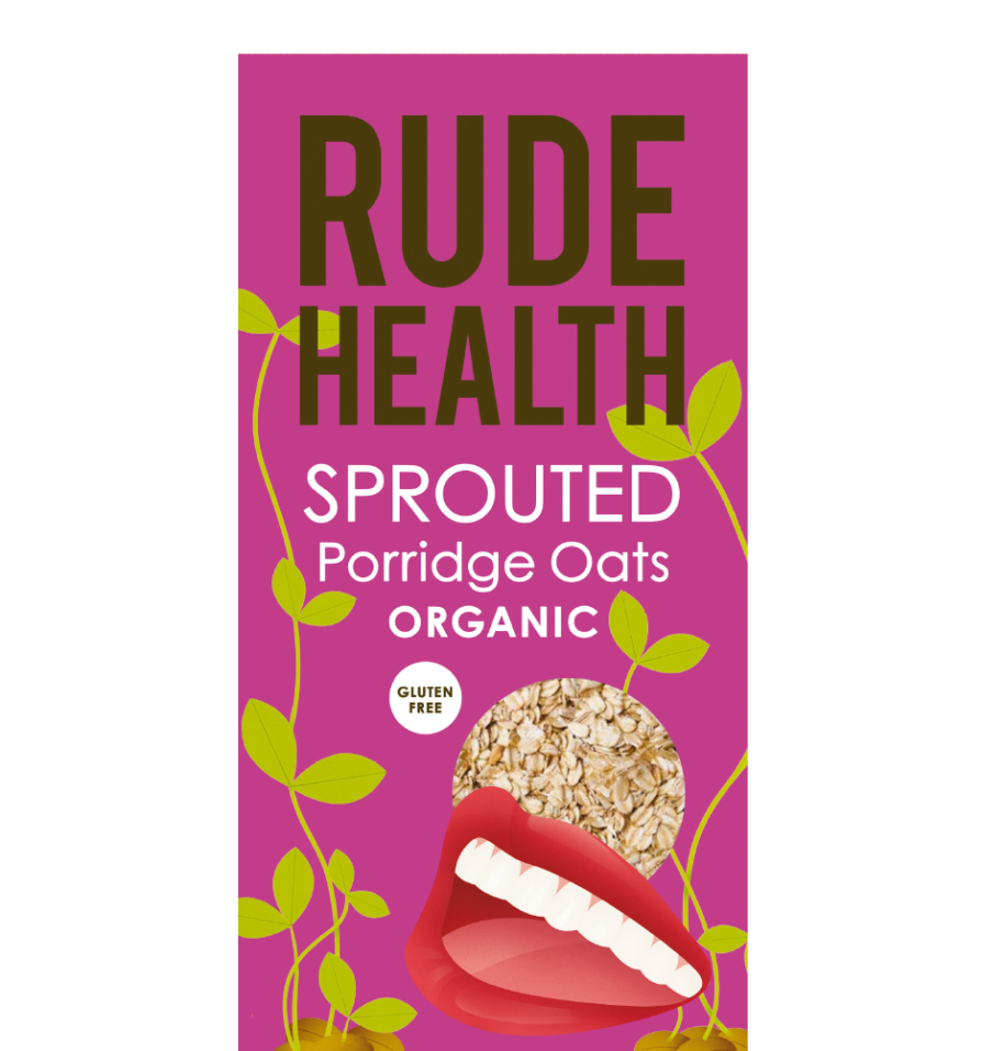 Rude Health Foods Sprouted Porridge Oats -500g - SoulBia