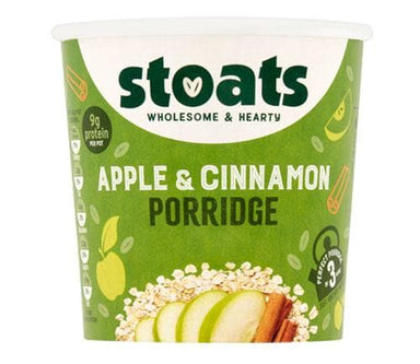 STOATS - APPLE & CINNAMON PORRIDGE POT - 60G - SoulBia