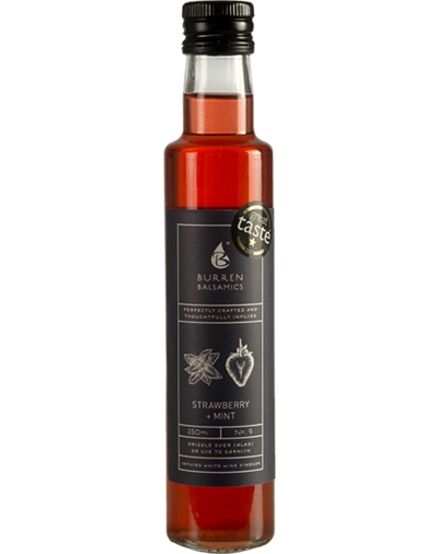 Burren Balsamics Strawberry and Mint Vinegar 250ml - SoulBia