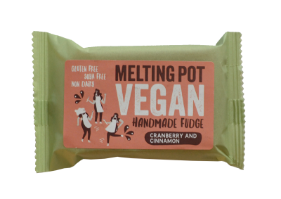 Melting Pot Fudge Vegan Cranberry & Cinnamon -90g - SoulBia