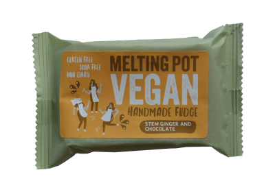 Melting Pot Fudge Vegan Stem Ginger & Chocolate 90g - SoulBia