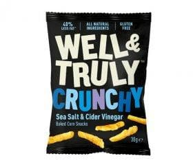 Well & Truly Sea Salt & Cider Vinegar Crisps- 30g - SoulBia