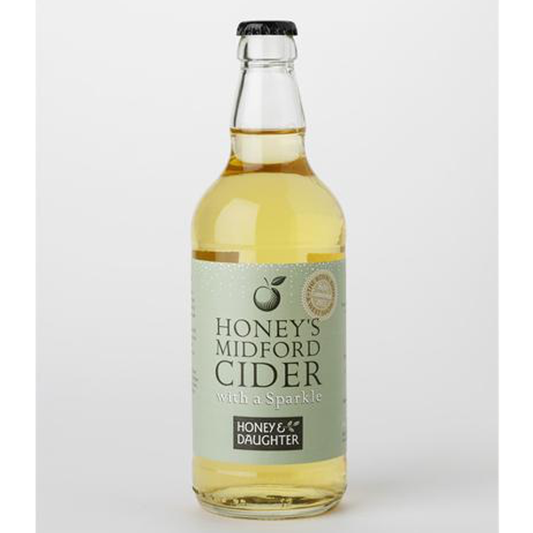 Honey's Midford Cider with a sparkle 500ml