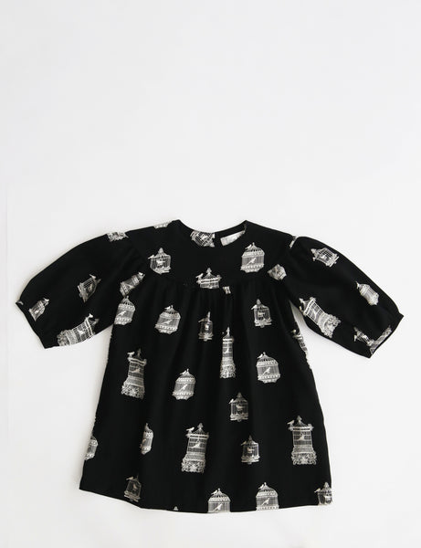 Birds Dress Loose Sleeves