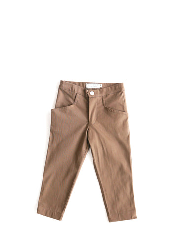 Chocolate Brown Cigarette Pants Mini