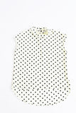 Hi Lo Hem Polka Dot Blouse Mini