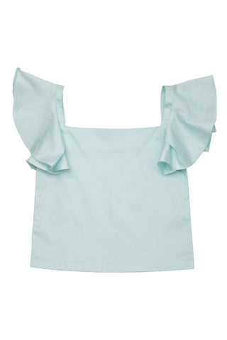 Hint of Mint Flared Sleeves Top