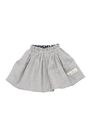 Checkered Polka Reversible Skirt